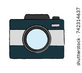 photographic camera icon | Shutterstock .eps vector #742314637