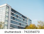 office building with copy space ... | Shutterstock . vector #742356073