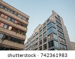 modern office buildings with... | Shutterstock . vector #742361983