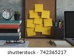 resolutions  notes  goals  post ... | Shutterstock . vector #742365217