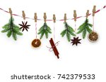 Cheerful Hanging Xmas Spices O...