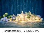 christmas decoration for...   Shutterstock . vector #742380493