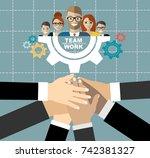 flat design illustration...   Shutterstock .eps vector #742381327