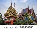 bangkok thailand  wat khun chan ... | Shutterstock . vector #742384183