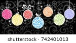 horizontal banner with... | Shutterstock .eps vector #742401013