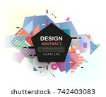 vector  abstract geometric... | Shutterstock .eps vector #742403083
