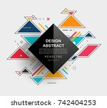 vector  abstract geometric... | Shutterstock .eps vector #742404253