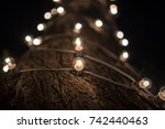 many electric tubes around the... | Shutterstock . vector #742440463