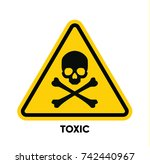 caution danger sign. hazard... | Shutterstock .eps vector #742440967