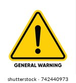 caution danger sign. hazard... | Shutterstock .eps vector #742440973