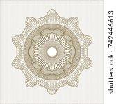 brown money style rosette | Shutterstock .eps vector #742446613