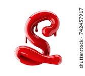 3d render of red alphabet make... | Shutterstock . vector #742457917
