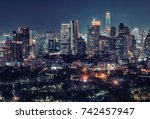 bangkok downtown by night | Shutterstock . vector #742457947