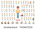 set of men character vector... | Shutterstock .eps vector #742467223