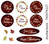 thanksgiving clipart | Shutterstock .eps vector #742474117