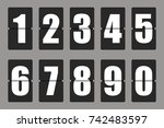 countdown timer  white color... | Shutterstock .eps vector #742483597