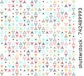 beautiful geometric pattern... | Shutterstock .eps vector #742489993