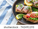 Dish Of Toasted Bread With Sof...