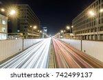 view of transport metropolis ... | Shutterstock . vector #742499137