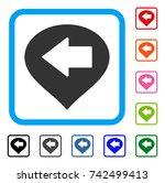 left arrow marker icon. flat... | Shutterstock .eps vector #742499413