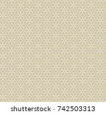 abstract geometric seamless... | Shutterstock .eps vector #742503313
