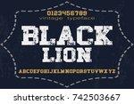 vintage font typeface alphabet... | Shutterstock .eps vector #742503667