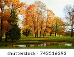 autumn morning in catherine... | Shutterstock . vector #742516393