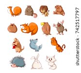 collection of colorful vector... | Shutterstock .eps vector #742517797