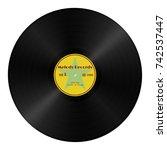 realistic vector gramophone... | Shutterstock .eps vector #742537447