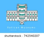 vatican museums simple... | Shutterstock .eps vector #742540207