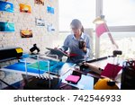 young person  small business ... | Shutterstock . vector #742546933