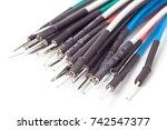 breadboard jumper cable   | Shutterstock . vector #742547377