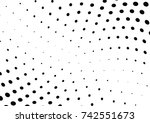 abstract halftone wave dotted...   Shutterstock .eps vector #742551673