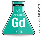 gadolinium symbol on chemical... | Shutterstock .eps vector #742586527