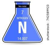 nitrogen symbol on chemical...   Shutterstock .eps vector #742589923