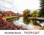 color day in japan. | Shutterstock . vector #742591267