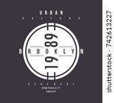 new york city urban vintage ...   Shutterstock .eps vector #742613227