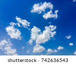 beautiful blue sky with clouds... | Shutterstock . vector #742636543