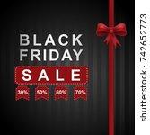 black friday banner origenal... | Shutterstock .eps vector #742652773