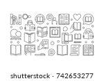 reading vector linear... | Shutterstock .eps vector #742653277