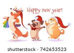 set of cartoon dogs characters...   Shutterstock .eps vector #742653523