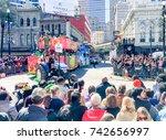 new orleans   february 9  2016  ... | Shutterstock . vector #742656997
