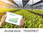 agriculture technology concept... | Shutterstock . vector #742659817