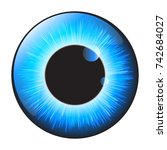 blue iris eye realistic  vector ...   Shutterstock .eps vector #742684027