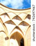blur in iran the antique  royal ...   Shutterstock . vector #742697467