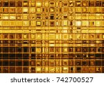 Golden Tile Mosaic  Luxurious...