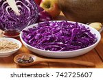 ingredients for spiced red... | Shutterstock . vector #742725607
