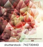gray geometric pattern ...   Shutterstock .eps vector #742730443