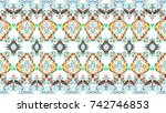 colorful mosaic pattern for... | Shutterstock . vector #742746853
