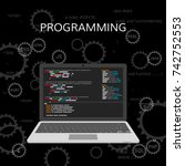 programming and coding. web... | Shutterstock .eps vector #742752553